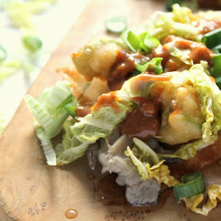 Asian Tostadas With Beer Battered Avocado