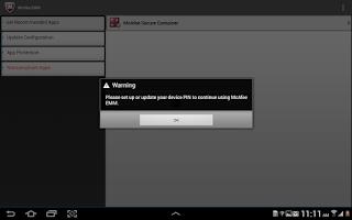 Screenshot of McAfee EMM