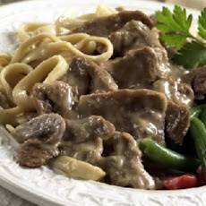 Peppered Beef Stroganoff