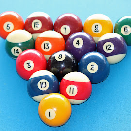 Billiard Balls by Tony Fruciano - Sports & Fitness Cue sports (  )