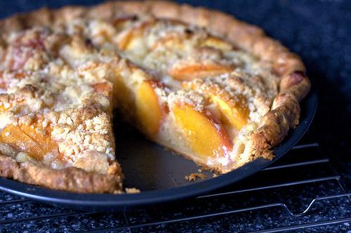 Peach and Crème Fraîche Pie Recipe | Yummly