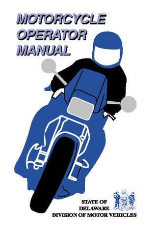 Delaware Motorcycle Manual