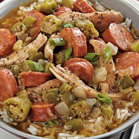 Slow-Cooker Chicken and Sausage Gumbo