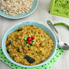 Eggplant and Lentil Curry (Vegan)