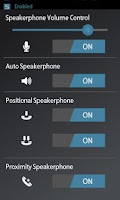 Screenshot of Speakerphone Control