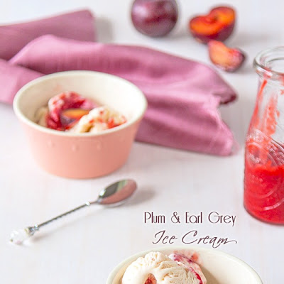 Plum & Earl Grey Ice Cream
