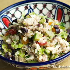 Greek Salad with Brown Rice