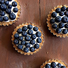 Blueberry Lemon Curd Mousse Tarts