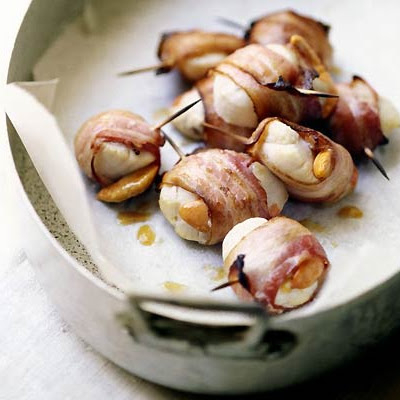 Warm Salad Of Scallops & Bacon