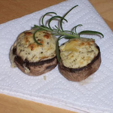Easy Two Ingredient Stuffed Mushrooms