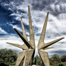 Kosmaj monument by Tijana Lubura - Buildings & Architecture Statues & Monuments ( hdr, nature, kosmaj, serbia, monument )