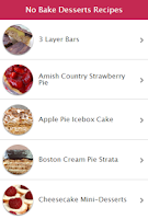 Screenshot of Easy No-Bake Desserts Recipes