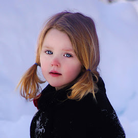 Red Nosed in the Snow by Cheryl Korotky - Babies & Children Child Portraits