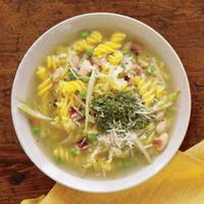 White Minestrone with Fusilli