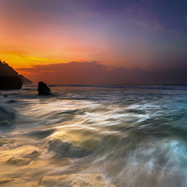 Cotton waves by Mulyadi AM - Landscapes Beaches ( motion )
