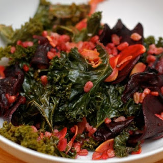 Farro Salad with Roasted Kale and Beets