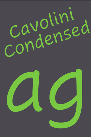Cavolini Condensed FlipFont - screenshot