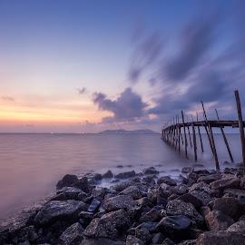 Bridge to Illusion  by Tony Milos - Landscapes Travel ( vietnam beach, beaches, asia, vietnam, asia beach, beach,  )