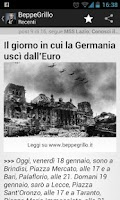 Screenshot of Beppe Grillo Blog Italian news
