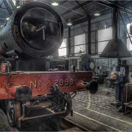 No 2999 in the Workshop by Steve Dormer - Transportation Trains ( locomotive, train photography, trains, hdr train photography )