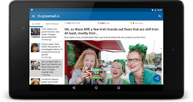 Screenshot of TheJournal.ie News