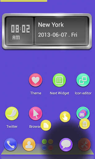 3D Jelly Buttons Next Launcher v1.0