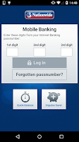 Screenshot of Nationwide Mobile Banking