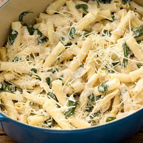 One-Pot Parmesan Chicken Ziti with Artichokes and Spinach