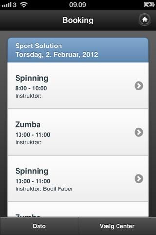 Sport Solution Booking