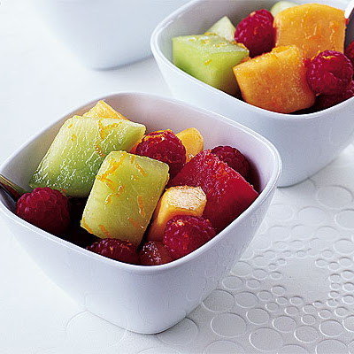 Melon, Orange & Raspberry Cups