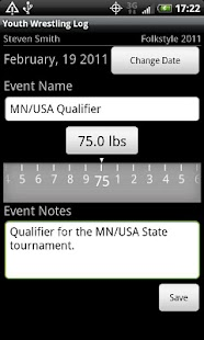 Youth Wrestling Log - screenshot