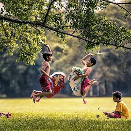 Jaranan by Bungsu Sumawijaya - Babies & Children Children Candids