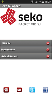 Seko SJ appen - screenshot
