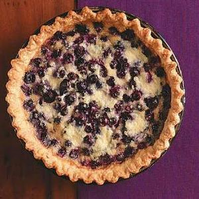 Blueberry Mascarpone Chess Pie