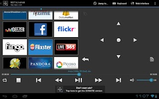 Screenshot of WDlxTV MediaPlayers Remote