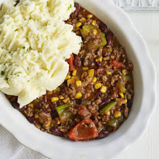 Chilli Bean Bake With Soured Cream Mash