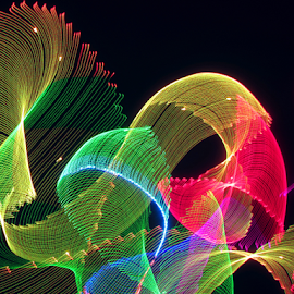 Sheets of light ! by Jim Barton - Abstract Patterns ( sheets of light, light painting, laser light, colorful, light design, laser design, laser, laser light show, light, science )
