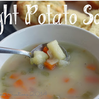 Light Potato Soup {Comfort Food Round-up!}