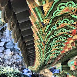 Bulguksa Temple by Matt Dittsworth - Buildings & Architecture Other Exteriors ( curve, temple, bulguksa, color, green, buddist, buddism, buddha )