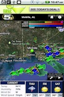 Screenshot of WKRG Radar