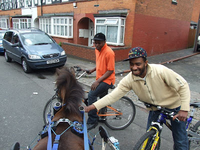Henry making friends in Balsall heath
