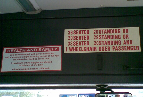 Confusing signs on Bus