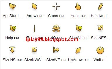 free mouse cursor,可愛滑鼠游標,Flatbed