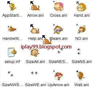 動態滑鼠游標,可愛悠嘻猴Yoci cursors download 滑鼠游標下載