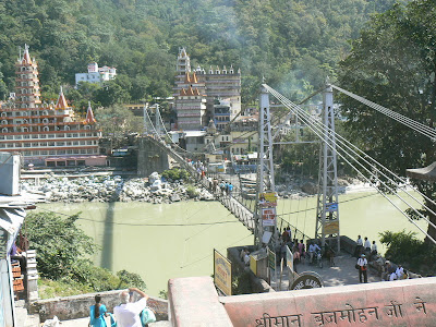 The Laxshman Jhula Bridge.