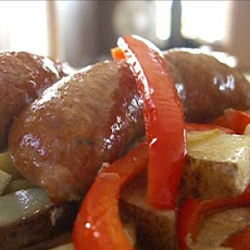 Roasted Sausages, Peppers, Potatoes, and Onions