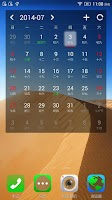 Screenshot of Zozo calendar