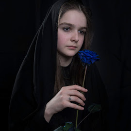 Blue rose by Sead Kazija - People Portraits of Women
