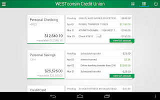 Screenshot of WESTconsin Credit Union