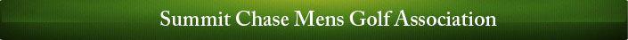 Summit Chase Mens Golf Association